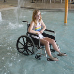 stainless wheelchair